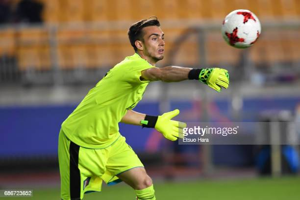 Andrea Zaccagno of Italy in action during the FIFA U20 World Cup Korea Republic 2017 group D match between Italy and Uruguay at Suwon World Cup...
