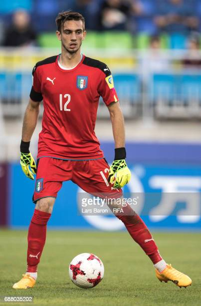 Andrea Zaccagno of Italy is seen during the FIFA U20 World Cup Korea Republic 2017 group D match between South Africa and Italy at Suwon World Cup...