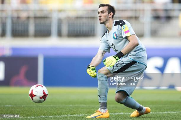 Andrea Zaccagno of Italy is seen with the ball during the FIFA U20 World Cup Korea Republic 2017 Quarter Final match between Italy and Zambia at...