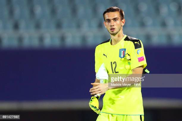 Andrea Zaccagno of Italy looks on during the FIFA U20 World Cup Korea Republic 2017 Round of 16 match between France and Italy at Cheonan Baekseok...