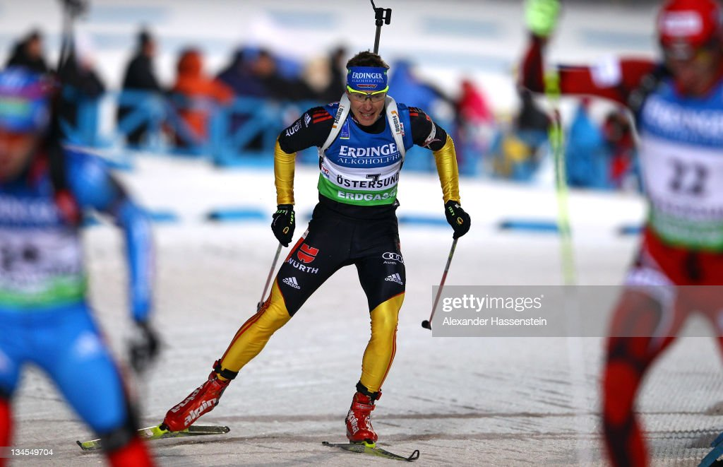 Andreas Birnbacher of Germany competes at the men's 10km sprint race during the EON IBU World Cup Biathlon at the Ostersund Ski Stadium on December 2...