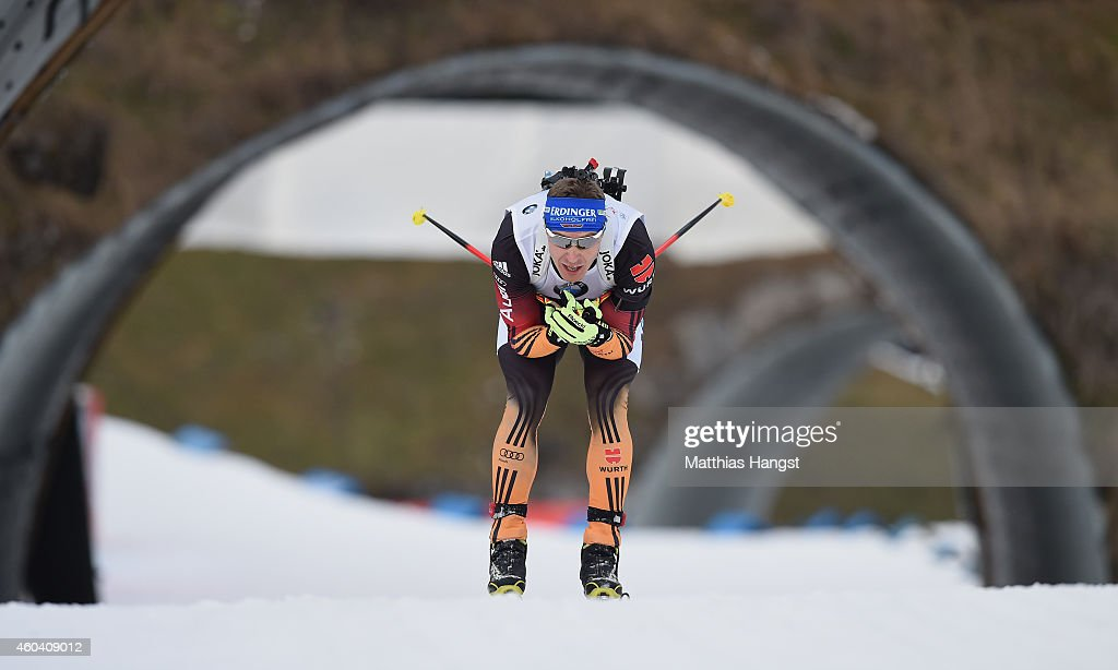 Andreas Birnbacher of Germany competes during the Men's 4 x 75 km relay event in the IBU Biathlon World Cup on December 13 2014 in Hochfilzen Austria