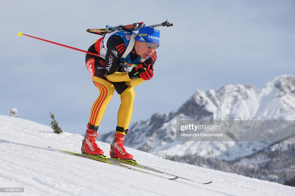Andreas Birnbacher of Germany competes in the men's 10km sprint event during the IBU Biathlon World Cup on December 7 2012 in Hochfilzen Austria