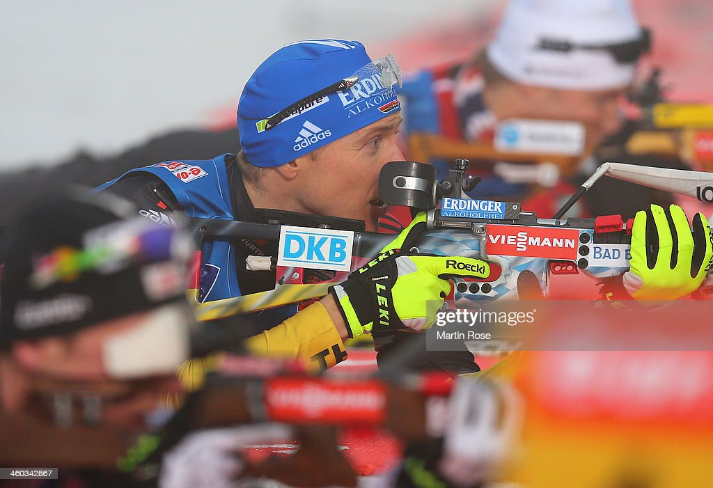 Andreas Birnbacher of Germany competes in the men's 10km sprint event during the IBU Biathlon World Cup on January 3 2014 in Oberhof Germany
