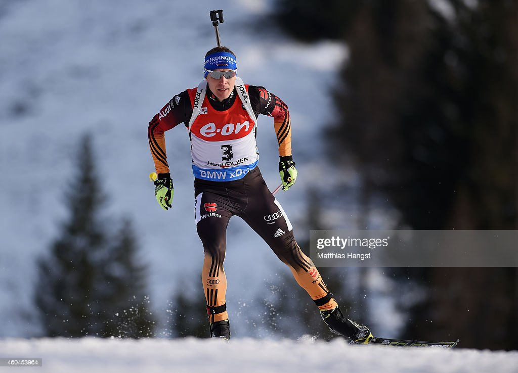 Andreas Birnbacher of Germany competes in the men's 125 km pursuit event during the IBU Biathlon World Cup on December 14 2014 in Hochfilzen Austria