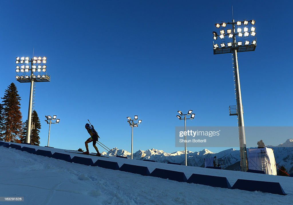 Andreas Birnbacher of Germany competes in the Men's 20km Individual Event during the E. ON IBU Biathlon World Cup at the 'Laura' Biathlon & Ski Complex on March 7, 2013 in Sochi, Russia.