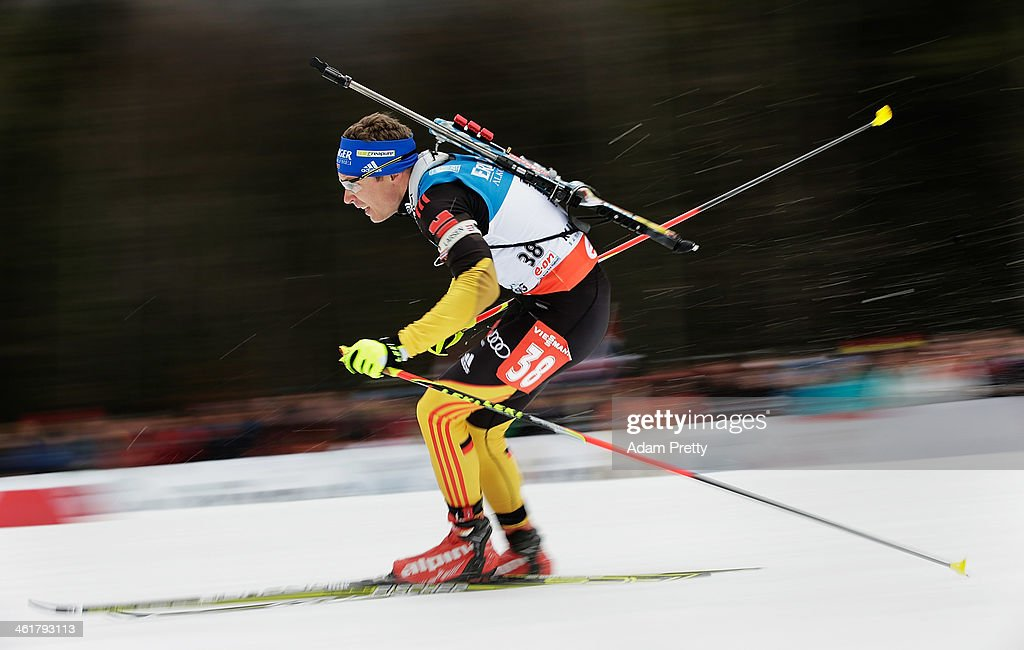 Andreas Birnbacher of Germany in action during the 20km mens individual on day four of the EOn IBU World Cup Biathlonon January 11 2014 in Ruhpolding...