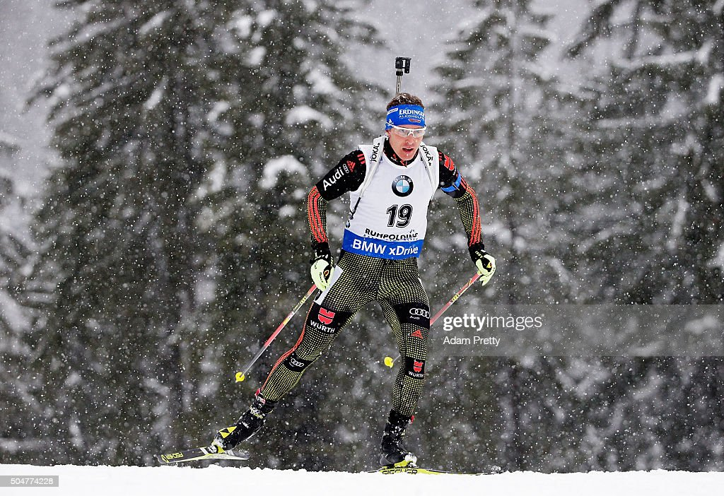 Andreas Birnbacher of Germany in action during the mens 20km Biathlon race at the IBU Biathlon World Cup Ruhpolding on January 13 2016 in Ruhpolding...