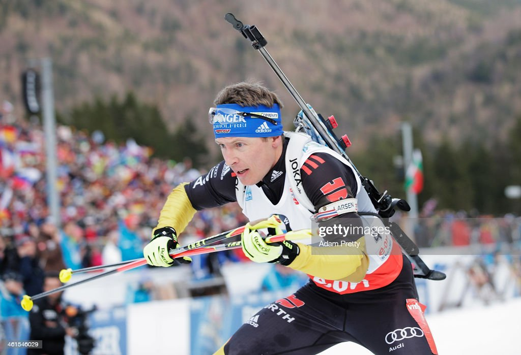 Andreas Birnbacher of Germany in action during the men's 4x75km relay on day two of the EOn IBU World Cup Biathlonon January 9 2014 in Ruhpolding...