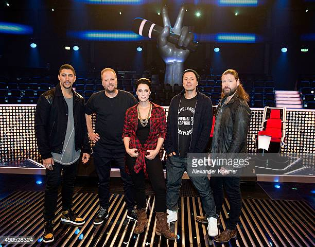 Andreas Bourani Smudo Stefanie Kloss Michi Beck and Rea Garvey attend a photo call for the television talent show 'The Voice of Germany' on September...