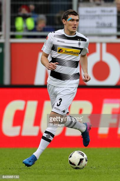 Andreas Christensen of Borussia Moenchengladbach controls the ball during the Bundesliga match between FC Ingolstadt 04 and Borussia Moenchengladbach...
