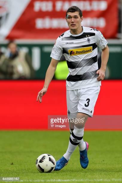 Andreas Christensen of Borussia Moenchengladbach controls the ball during the Bundesliga match between FC Ingolstadt 04 and Borussia Moenchengladbach...
