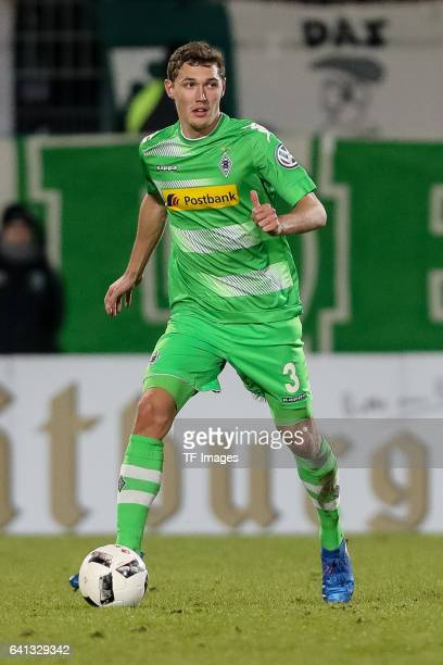 Andreas Christensen of Borussia Moenchengladbach in action during the DFB Cup match between SpVgg Greuther Fuerth and Borussia Moenchengladbach at...