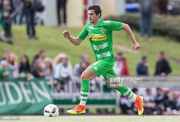 Andreas Christensen of Borussia Moenchengladbach with ball during the friendly match between VfL Rhede and Borussia Moenchengladbach at Besagroup...