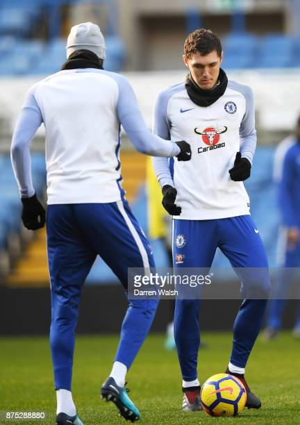 Andreas Christensen of Chelsea during a training session at Stamford Bridge on November 17 2017 in London England