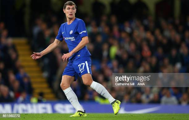 Andreas Christensen of Chelsea during the Carabao Cup Third Round match between Chelsea and Nottingham Forest at Stamford Bridge on September 20 2017...