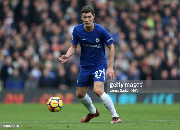 Andreas Christensen of Chelsea during the Premier League match between Chelsea and Newcastle United at Stamford Bridge on December 2 2017 in London...