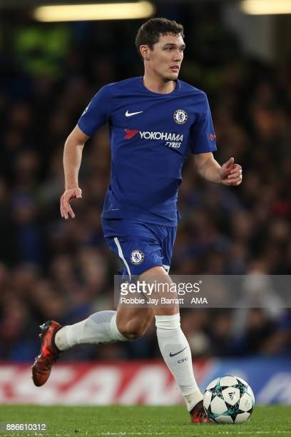 Andreas Christensen of Chelsea during the UEFA Champions League group C match between Chelsea FC and Atletico Madrid at Stamford Bridge on December 5...