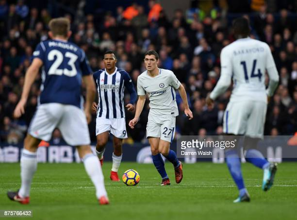 Andreas Christensen of Chelsea in action during the Premier League match between West Bromwich Albion and Chelsea at The Hawthorns on November 18...