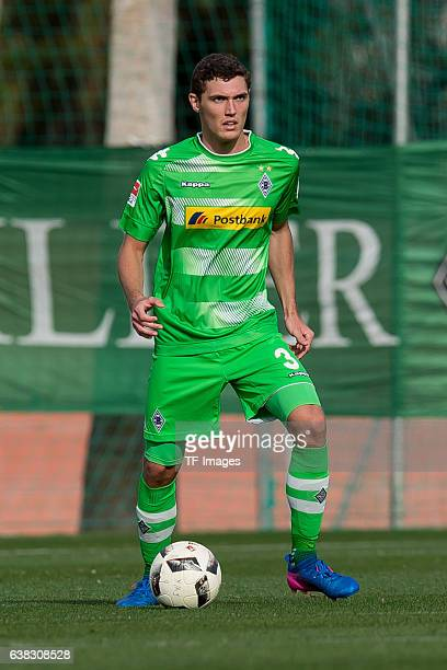 Andreas Christensen of Moenchengladbach in action during the friendly match between Borussia Moenchengladbach v Wuerzburger Kicker Friendly Match at...