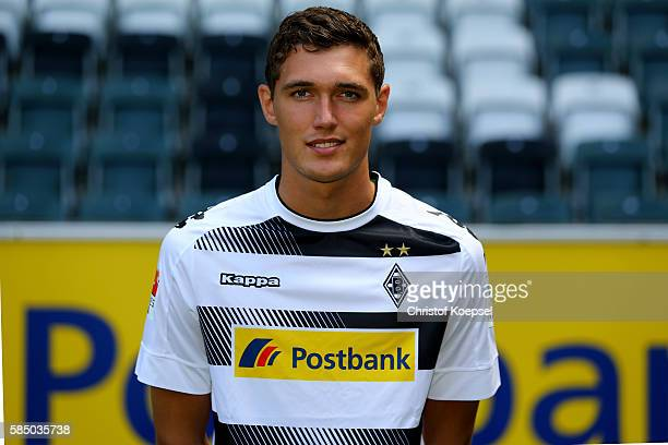 Andreas Christensen of Moenchengladbach poses during the team presentation of Borussia Moenchengladbach at BorussiaPark on August 1 2016 in...