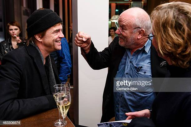 Andreas Frege aka Campino and guests attend the WarmUp at the Glashuette Original lounge during the 65th Berlinale International Film Festival at...