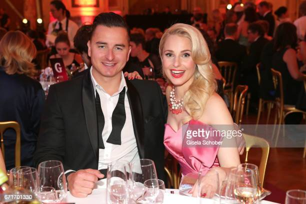 Andreas Gabalier and his girlfriend Silvia Schneider during the ROMY award at Hofburg Vienna on April 22 2017 in Vienna Austria