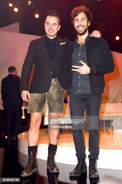 Andreas Gabalier and Max Giesinger attend the 22th Annual Jose Carreras Gala on December 14 2016 in Berlin Germany