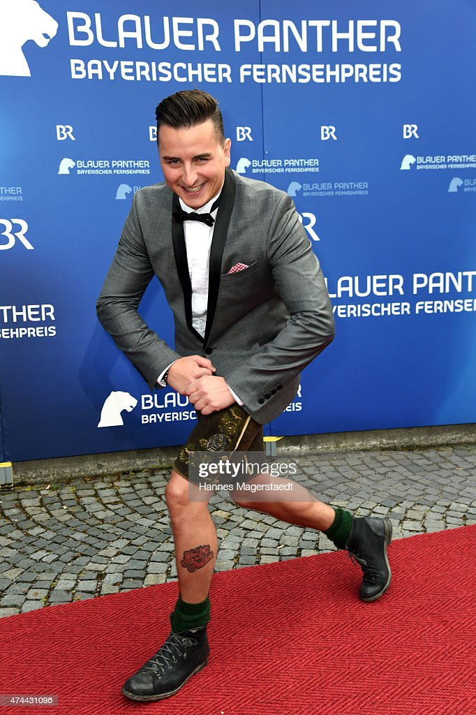 Andreas Gabalier arrives for the Bayerischer Fernsehpreis 2015 at Prinzregententheater on May 22, 2015 in Munich, Germany.