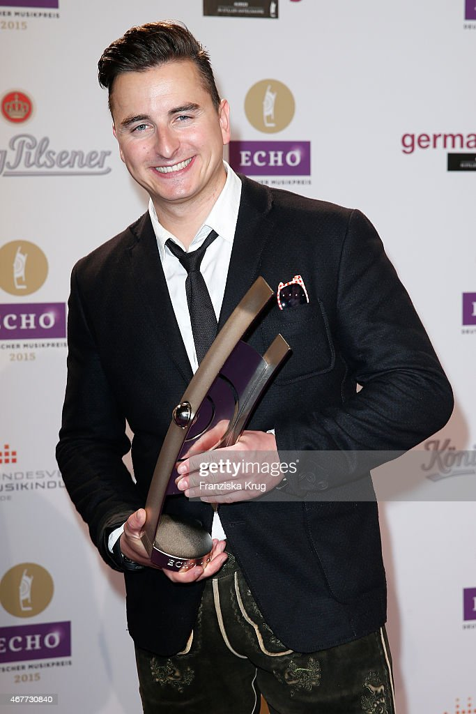Andreas Gabalier attends the Echo Award 2015 - After Show Party on March 26, 2015 in Berlin, Germany.