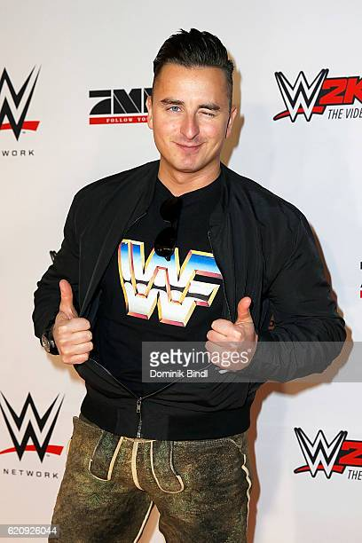 Andreas Gabalier attends Tim Wiese's first WWE fight at Olympiahalle on November 3 2016 in Munich Germany