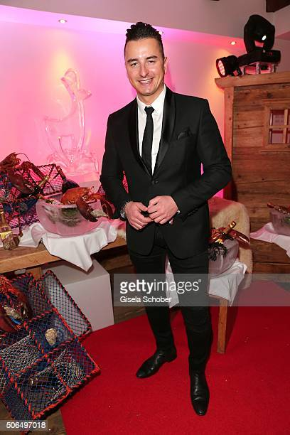 Andreas Gabalier during the 'Hummer Party' at hotel 'Kitzhof' on January 23 2016 in Kitzbuehel Austria
