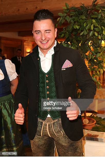 Andreas Gabalier during the Weisswurstparty at Hotel Stanglwirt on January 20 2017 in Going near Kitzbuehel Austria