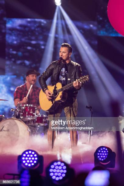 Andreas Gabalier performs during the show 'Das Internationale Schlagerfest' at Westfalenhalle on October 21 2017 in Dortmund Germany