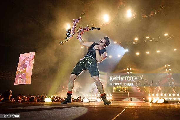 Andreas Gabalier performs on stage at Olympiahalle on November 8 2013 in Munich Germany