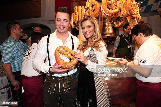 Andreas Gabalier Sophia Thomalla during the Weisswurstparty at Hotel Stanglwirt on January 23 2015 in Going Austria