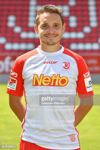 Andreas Geipl of Jahn Regensburg poses during the team presentation at Continental Arena on July 18 2017 in Regensburg Germany
