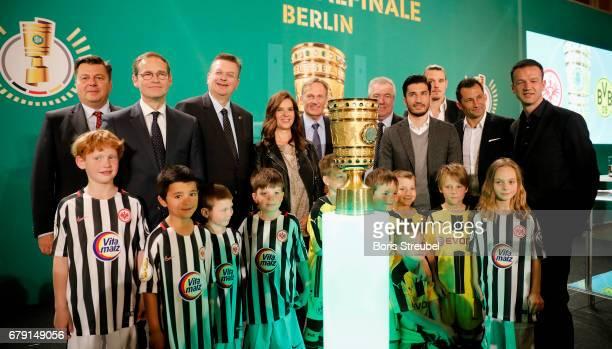 Andreas Geisel Senator of Interior and Sport of Berlin Michael Mueller mayor of Berlin Reinhard Grindel president of the German Football Association...