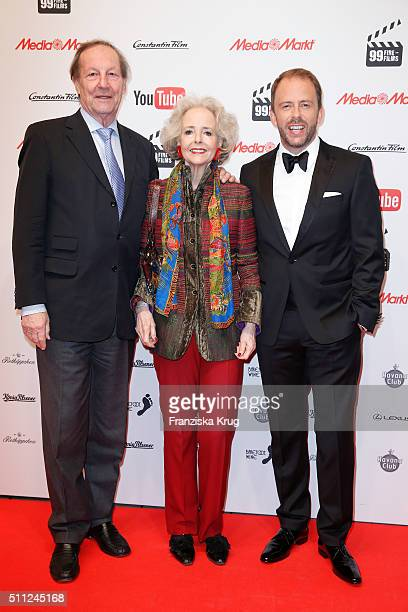 Andreas Graf von Hardenberg Isa Graefin von Hardenberg and Stefan Kiwit attend the 99FireFilmAward 2016 at Admiralspalast on February 18 2016 in...