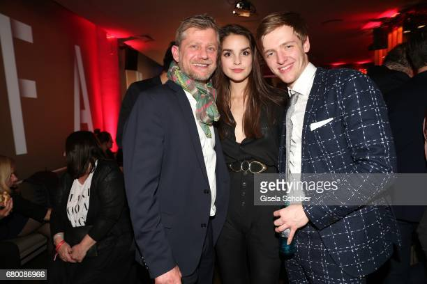 Andreas Guenther and Luise Befort and Timur Bartels during the New Faces Award Film at Haus Ungarn on April 27 2017 in Berlin Germany
