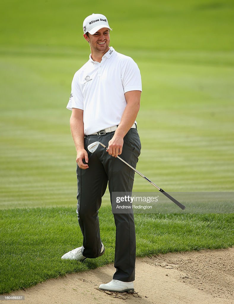 Andreas Harto of Denmark in action during the second round of the Omega Dubai Desert Classic at Emirates Golf Club on February 1, 2013 in Dubai, United Arab Emirates.