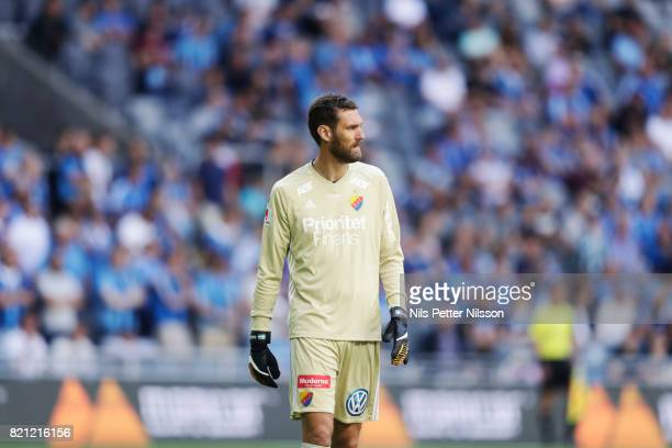 Andreas Isaksson of Djurgardens IF during the Allsvenskan match between Djurgardens IF and Ostersunds FK at Tele2 Arena on July 23 2017 in Stockholm...