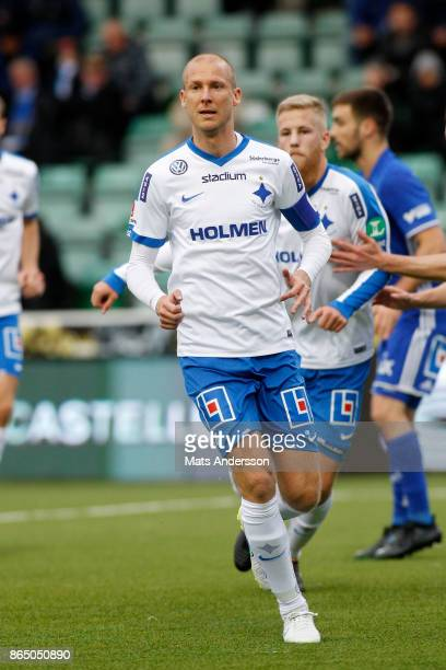 Andreas Johansson of IFK Norrkoping during the Allsvenskan match between GIF Sundsvall and IFK Norrkoping at Idrottsparken on October 22 2017 in...