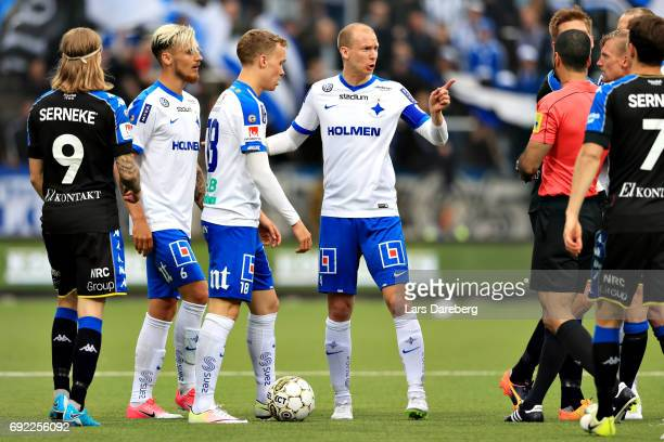Andreas Johansson of IFK Norrkoping during the Allsvenskan match between IFK Norrkoping and IFK Goteborg on June 4 2017 at Ostgotaporten in...