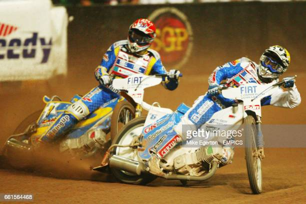 Andreas Jonsson of Sweden and Tomasz Gollob of Poland