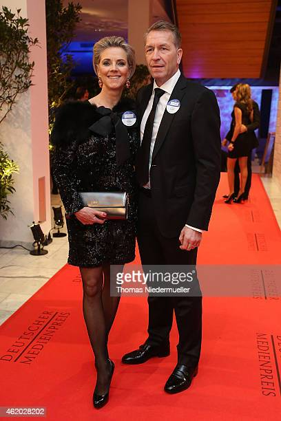 Andreas Koepke and his wife Birgit arrives the red carpet during the German Media Award 2014 on January 23 2015 in BadenBaden Germany