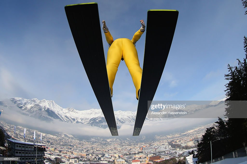 Andreas Kofler of Austria competes on day 5 of the Four Hills Tournament Ski Jumping event at Bergisel-Schanze on January 3, 2015 in Innsbruck, Austria.