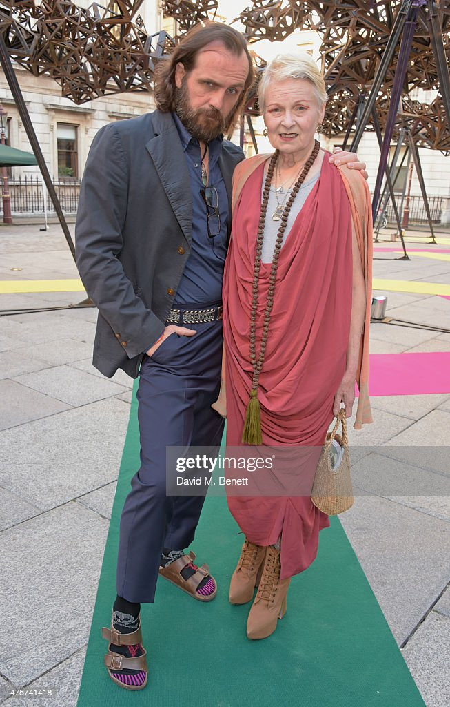 Andreas Kronthaler (L) and Dame Vivienne Westwood attend the Royal Academy of Arts Summer Exhibition preview party at the Royal Academy of Arts on June 3, 2015 in London, England.
