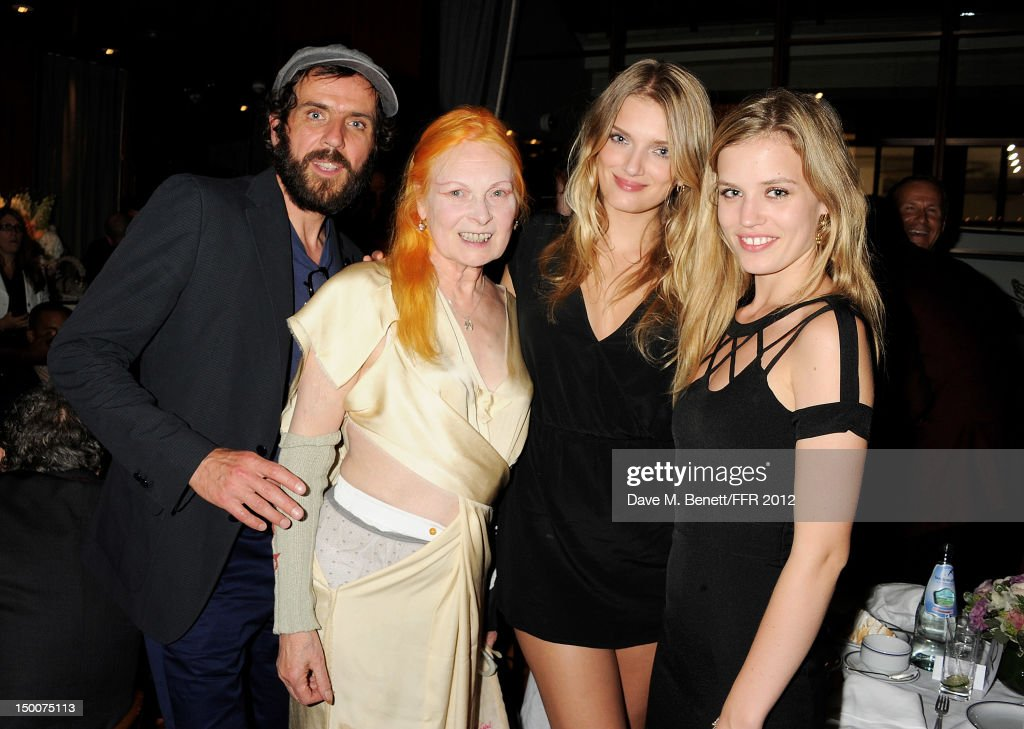 Andreas Kronthaler, Dame Vivienne Westwood, Lily Donaldson and Georgia May Jagger attend as Naomi Campbell hosts an Olympic Celebration Dinner in partnership with Fashion For Relief, Interview Magazine and Downtown Mayfair celebrating the amazing accomplishments of Team GB on August 9, 2012 in London, United Kingdom. Guest joined event hosts Naomi, Vladislav Doronin and Giuseppe Cipriani at London's Downtown Mayfair. 'The 2012 Olympics have been remarkable - I am elated for Team GB and the extraordinary success they have had so far. It's a very special and proud time to be in London and to celebrate the outstanding talent, which has been showcased during the games. I wish everyone taking part in London 2012 continued strength, determination and perseverance for the remainder of the games.'