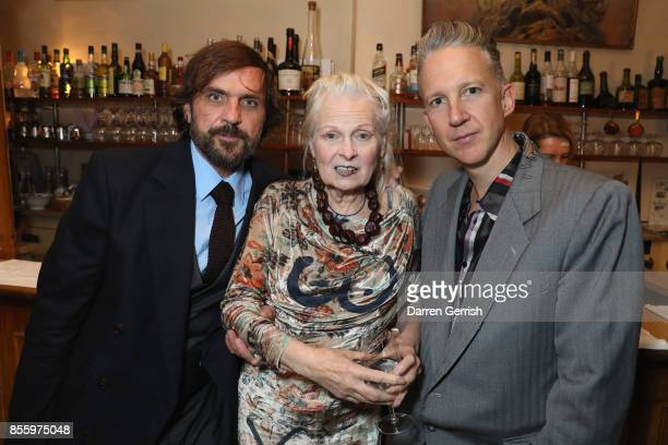 Andreas Kronthaler Vivienne Westwood and Jefferson Hack attend a dinner in Paris to celebrate Another Magazine A/W17 hosted by Vivienne Westwood...